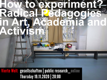 "Puchpräsentation und Workshop: ""How to Experiment? Radical Pedagogies in Art, Academia and Activism"""